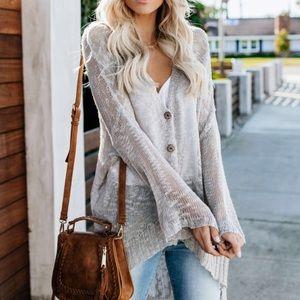 NWT POL Lightweight Button Knit Cardigan Sweater